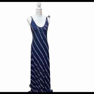 NWT Vici OliviaCeous Blue White Striped Maxi Dress